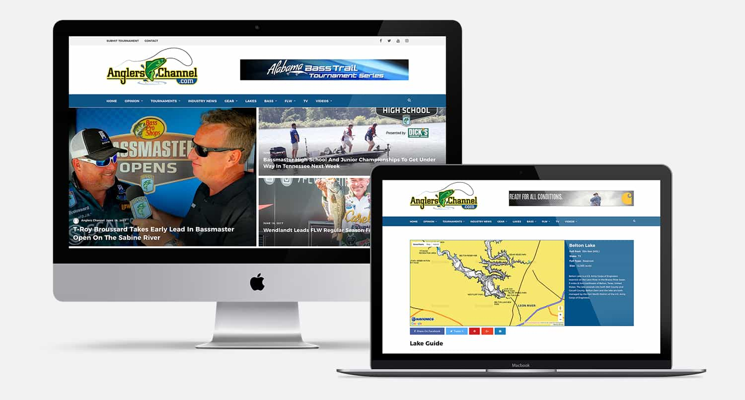 Anglers Channel Web Design