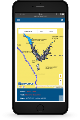 Anglers Channel Lake Maps Design