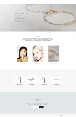 Creature Jewellery Web Design