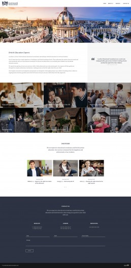 Lucullus Education Web Design